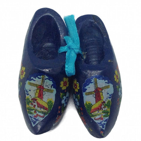 Dutch Gift Idea Wooden Shoes Blue Clogs - DutchNovelties