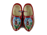 "Netherlands Shoe Clogs w/ Windmill Red Design-6.5"" - DutchNovelties"
