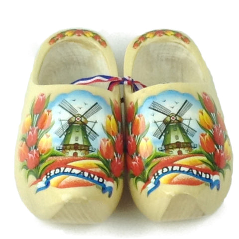 Authentic Dutch Wooden Shoes Tulip Design - DutchNovelties  - 1