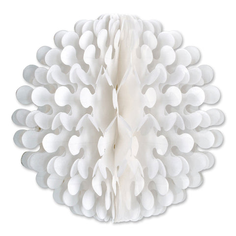 "14"" White Tissue Flutter Ball Party Decorations - DutchNovelties"