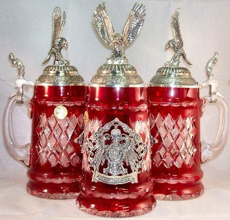 Lord of Crystal Flying Eagle German Beer Stein 0.5 Liter - GermanGiftOutlet.com