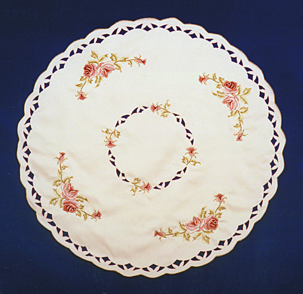 Victorian Rose Round Table Cloth - DutchNovelties