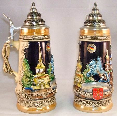 St Petersburg Russia German Beer Stein By King-Werks - GermanGiftOutlet.com