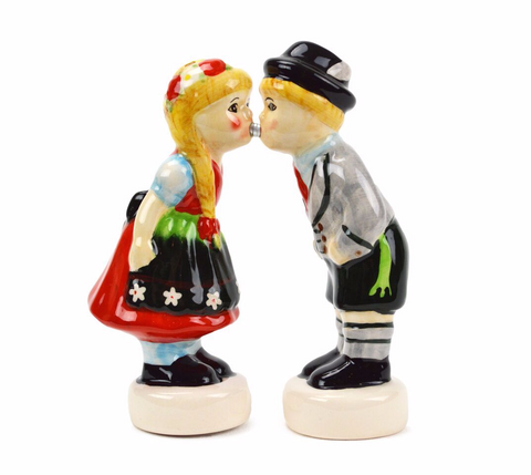 Magnetic German Kiss Salt and Pepper Shakers