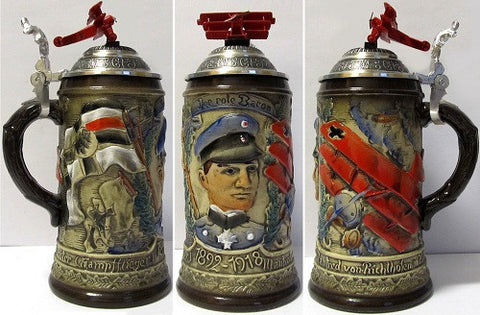 0.5 Liter Red Baron German Beer Stein King-Werks - GermanGiftOutlet.com