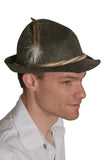 German Alpine Fedora Felt Hat Gray - DutchNovelties