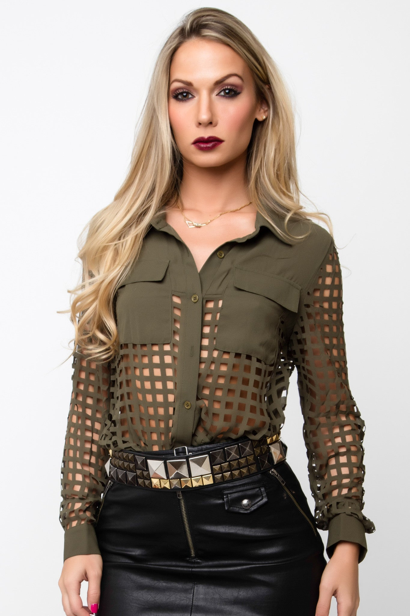 Green Grid Top