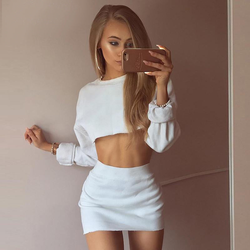 Tracksuits Sweatshirt 2 Piece Set