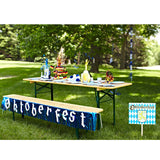 7.5 Foot Oktoberfest Fringed Metalic Banner Party Decorations - ScandinavianGiftOutlet