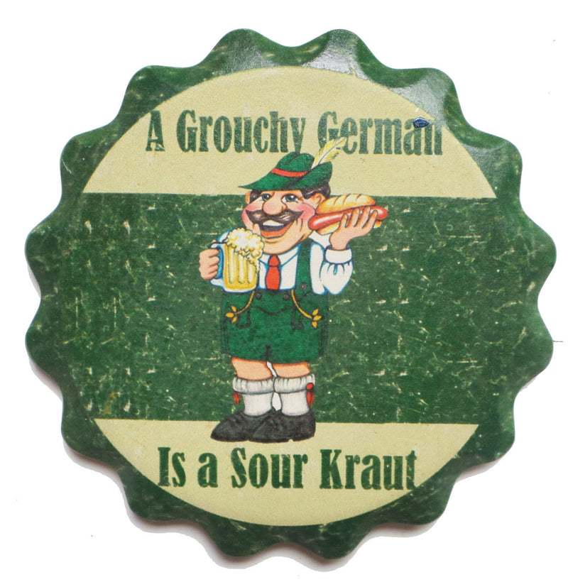 Ceramic Coaster Gift Sets- Grouchy German - ScandinavianGiftOutlet