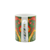 Green Rosemaling Ceramic Coffee Cup - ScandinavianGiftOutlet