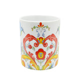 Rosemaling White Design Ceramic Coffee Mug - 3 - Scandinaviangiftoutlet.com