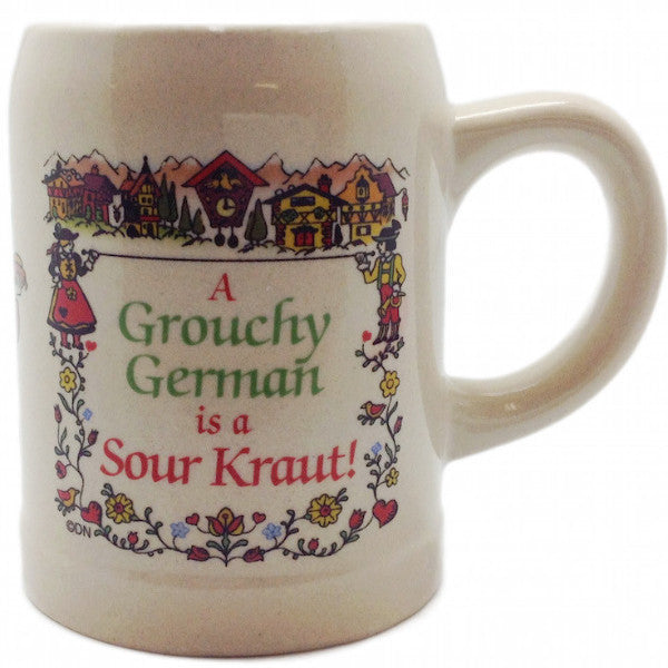 "German Coffee Cup: ""Grouchy German Is A Sour Kraut!"" - ScandinavianGiftOutlet"