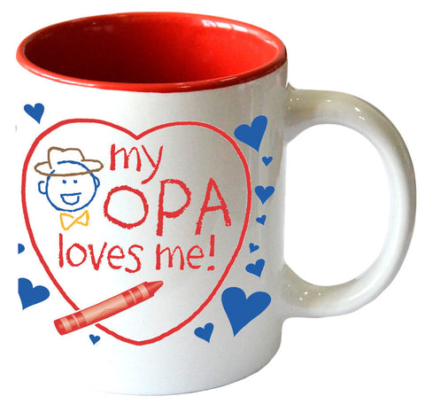"Gift for Opa's Grandchildren Mug  ""My Opa Loves Me"" - Scandinaviangiftoutlet.com"