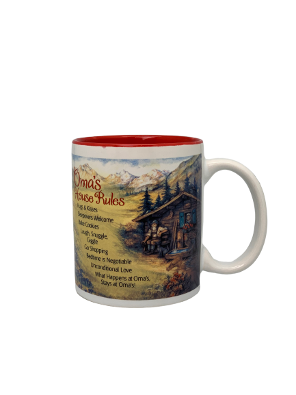 """Oma's House Rules"" Coffee Mug"