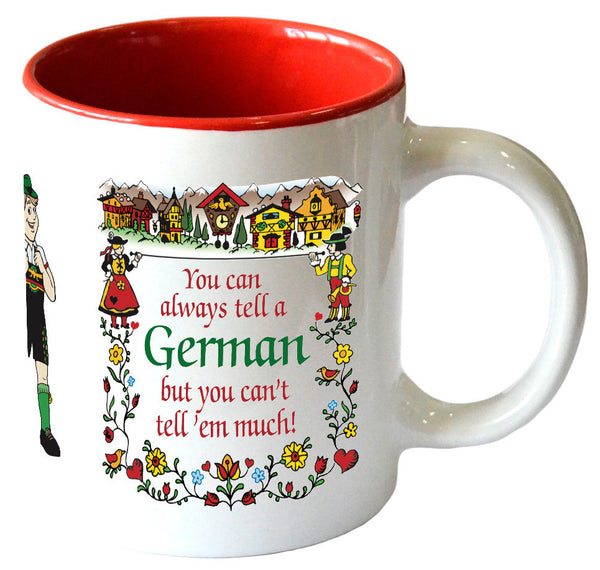 "Gift for German Coffee Mug ""Tell A German…"" - Scandinaviangiftoutlet.com"