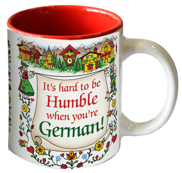 "Gift for German Coffee Mug ""Humble German"" - Scandinaviangiftoutlet.com"
