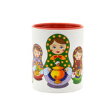 Russian Nesting Doll Ceramic Coffee Mug - 3 - Scandinaviangiftoutlet.com