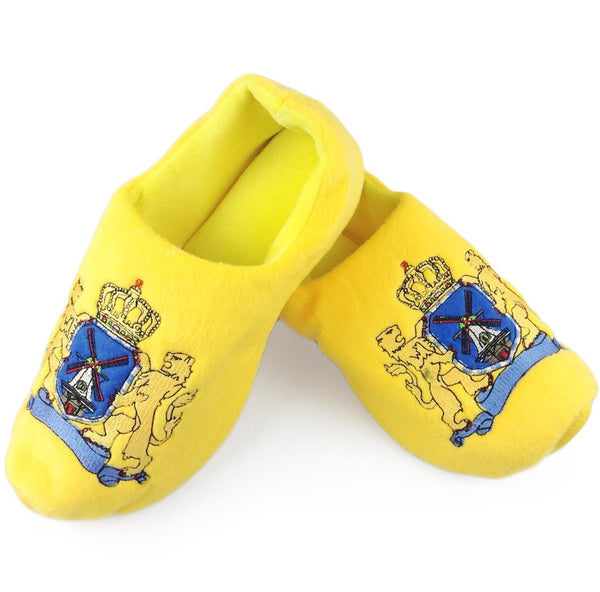 Novelty Clog Fluffy Dutch Coat of Arms Slippers - ScandinavianGiftOutlet
