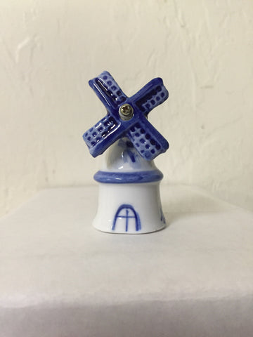 Blue & White Decorative Post Windmill - ScandinavianGiftOutlet