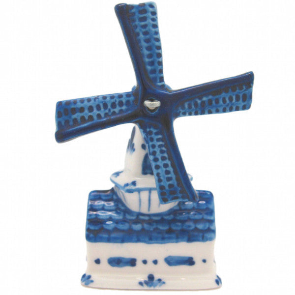 Blue and White Ceramic Windmill House - ScandinavianGiftOutlet  - 1