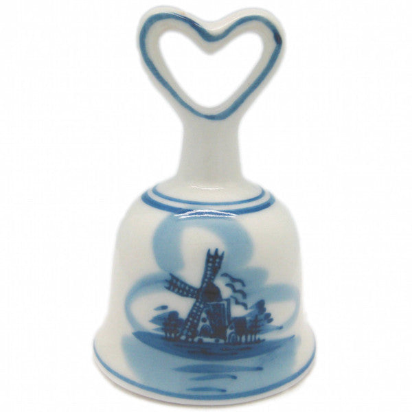 Collector Windmill Blue and White Bell with Heart - ScandinavianGiftOutlet