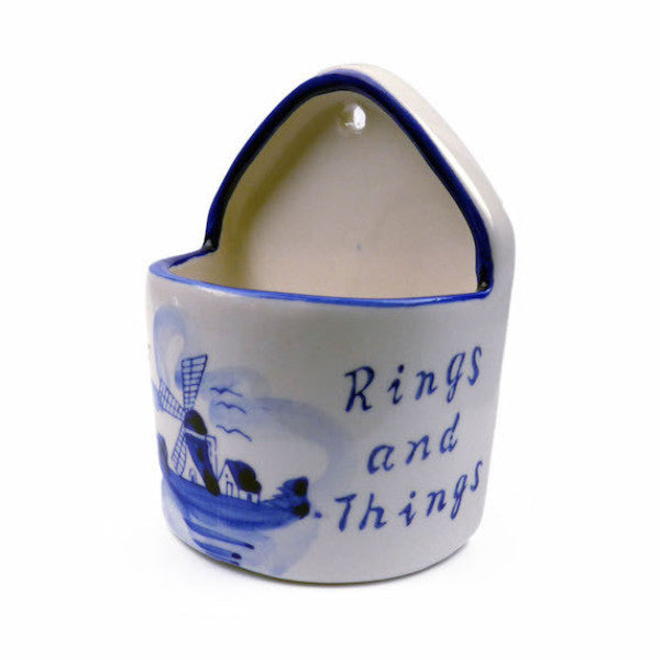 "Blue and White Ring Box (""Rings & Things"") - ScandinavianGiftOutlet  - 1"