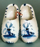 Delft Blue Wooden Shoes Pair with Windmill Design - ScandinavianGiftOutlet  - 8