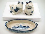 Frogs Salt and Pepper Shakers: Frogs/Basket - ScandinavianGiftOutlet