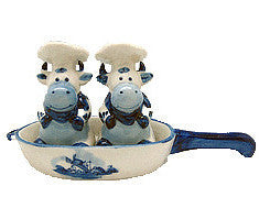 Cows Salt and Pepper Shakers: Chef Cows - ScandinavianGiftOutlet
