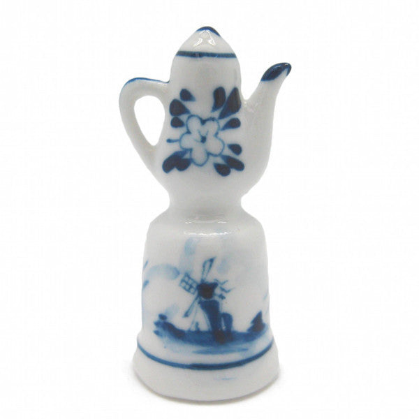 Collectible Thimble Blue and White Teapot - ScandinavianGiftOutlet