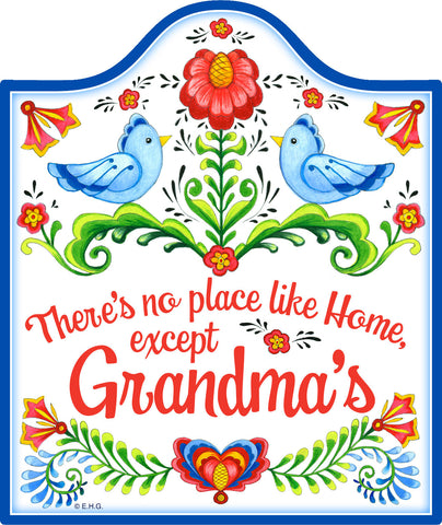 """No Place Like Home Except Grandma's"" Decorative Trivet  - Scandinaviangiftoutlet.com"