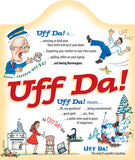 Ceramic Cheeseboard w/ Cork Backing: Uff Da - ScandinavianGiftOutlet