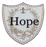 Ceramic Decoration Shield: Hope - ScandinavianGiftOutlet  - 1