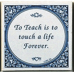 Tile Quotes : Touch Life Forever.. - ScandinavianGiftOutlet