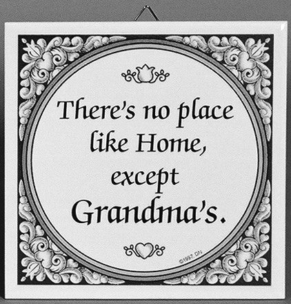 Tile Quotes: Grandma's Home - ScandinavianGiftOutlet