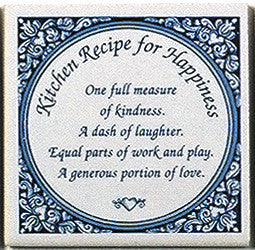Inspirational Wall Plaque: Kitchen Recipe Tile - ScandinavianGiftOutlet