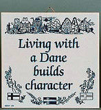 Inspirational Wall Plaque: Living With Dane.. - ScandinavianGiftOutlet  - 1