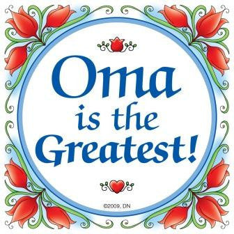 German Gift Oma Wall Plaque Tile - ScandinavianGiftOutlet