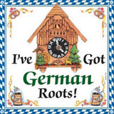 German Gift Ceramic Wall Hanging Tile: German Roots - ScandinavianGiftOutlet  - 1