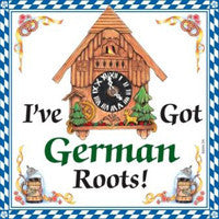 German Gift Ceramic Wall Hanging Tile: German Roots - ScandinavianGiftOutlet