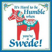 Kitchen Wall Plaques: Humble Swede - ScandinavianGiftOutlet