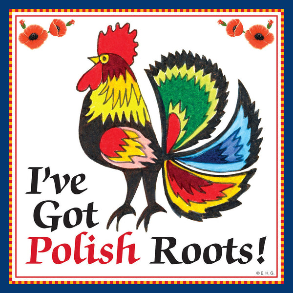 Ceramic Wall Plaque: Polish Roots - ScandinavianGiftOutlet