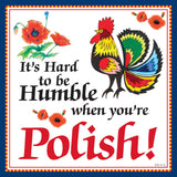 Ceramic Wall Plaque: Humble Polish - ScandinavianGiftOutlet