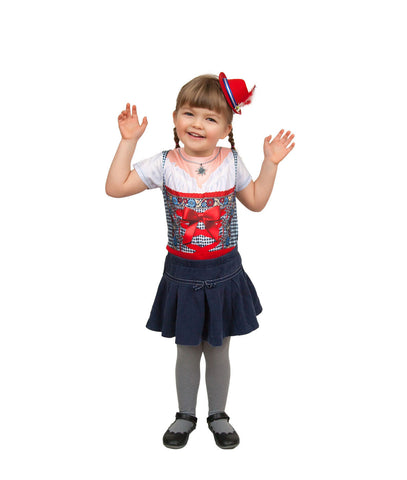 Oktoberfest Costume Mini Red Bavarian Hat - Scandinaviangiftoutlet.com
