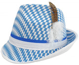 Checkered Oktoberfest Hat Bavarian - ScandinavianGiftOutlet