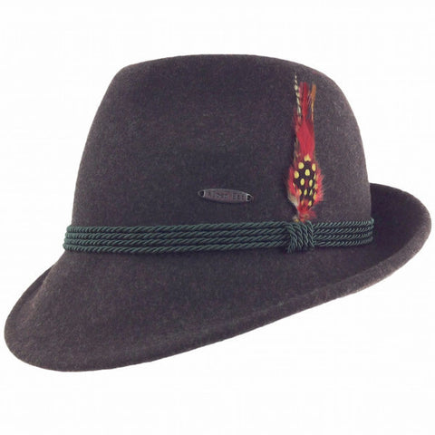 German Alpine Style Brown 100% Wool Oktoberfest Hat - ScandinavianGiftOutlet
