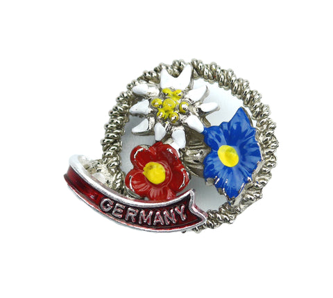 German Hat Pin: Alpine Edelweiss Flowers - ScandinavianGiftOutlet
