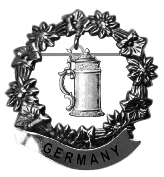 German Beer Stein Medallion Metal Hat Pins for German Hat - ScandinavianGiftOutlet