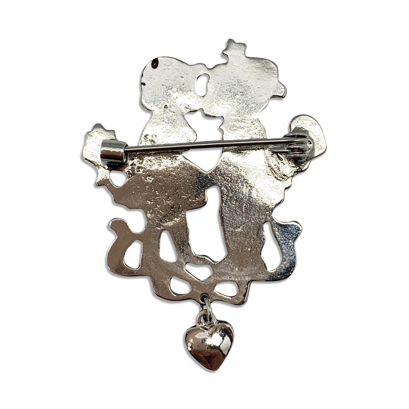 Metal Hat Pin Colored Metal Kissing Couple - ScandinavianGiftOutlet